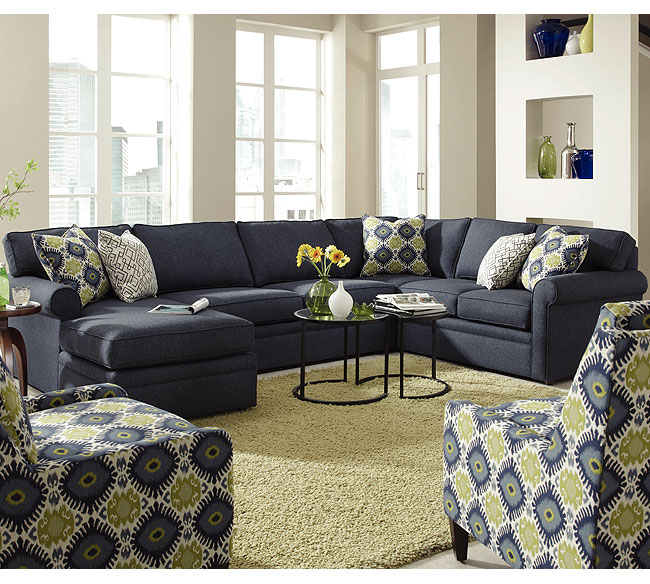Brentwood 9259Q Sleeper Sectional   350 Fabrics And Colors. By Rowe