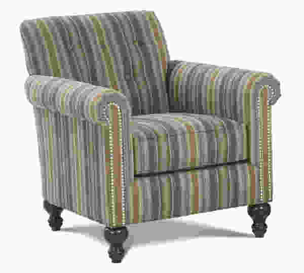 Cantrell N280 Chair and Ottoman - 350 Fabrics and Colors