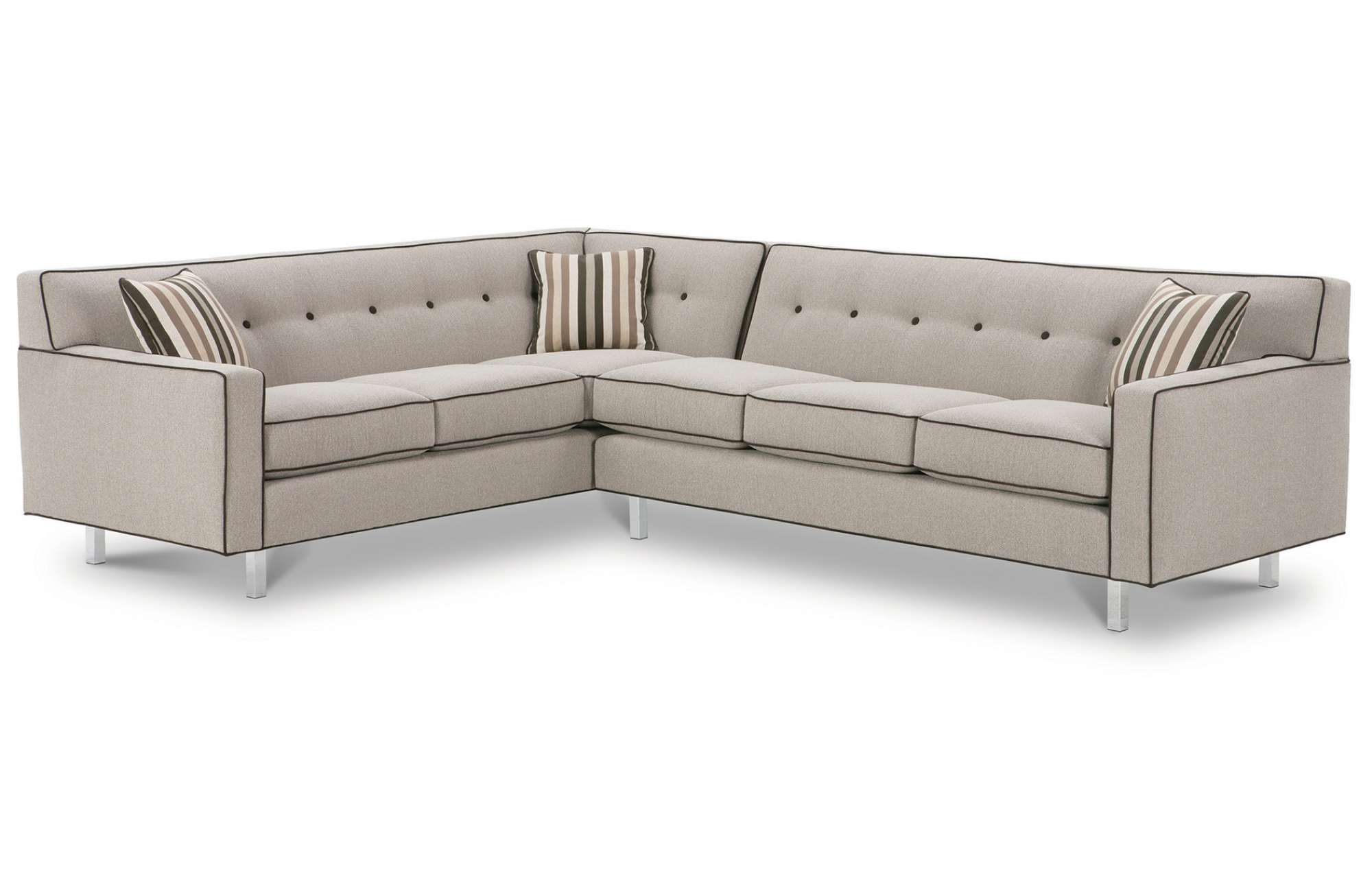 Attrayant Dorset K520C Chrome Leg Sectional   350 Fabrics And Colors. By Rowe