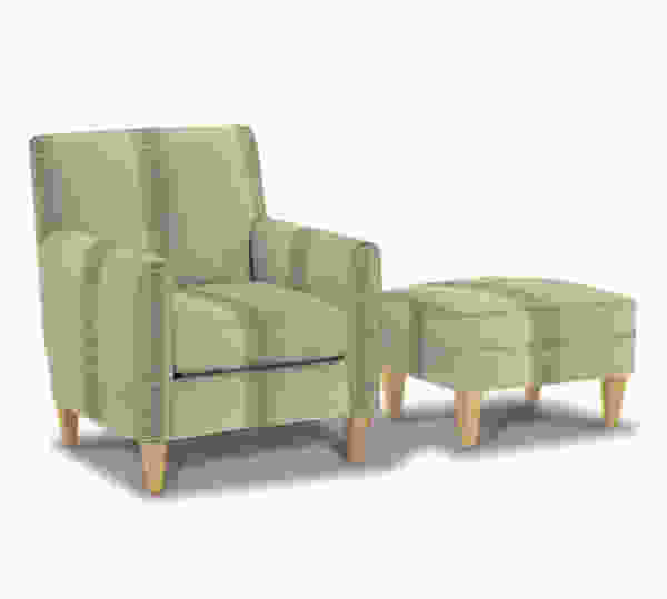 Ellery K751 Slipcover Chair and Ottoman - 350 Fabrics and Colors