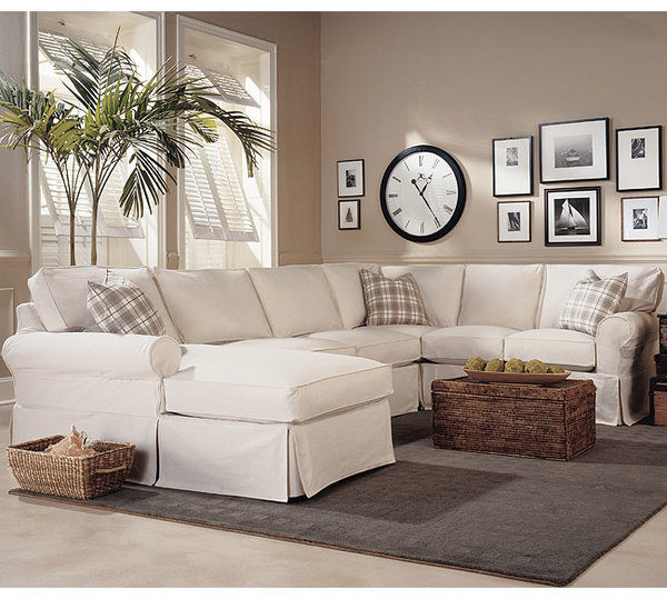 Masquerade C392 Slipcover Sleeper Sectional   350 Fabrics And Colors