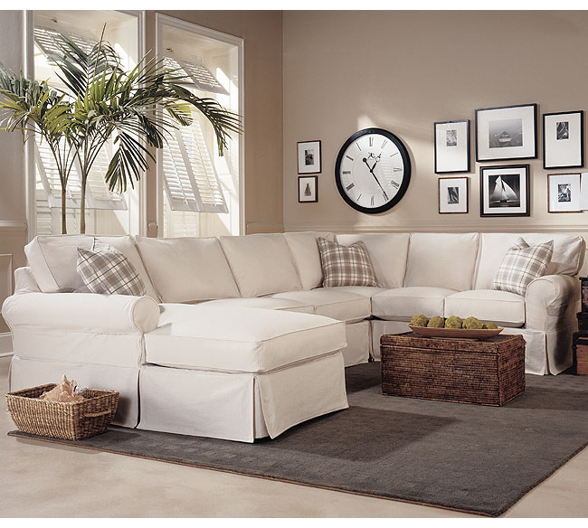 Masquerade C392 Slipcover Sleeper Sectional - 350 Fabrics and Colors : slipcovered sectional - Sectionals, Sofas & Couches