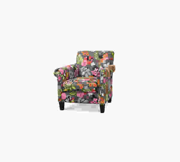 McGuire K801 Accent Chair and Ottoman - 350 Fabrics and Colors