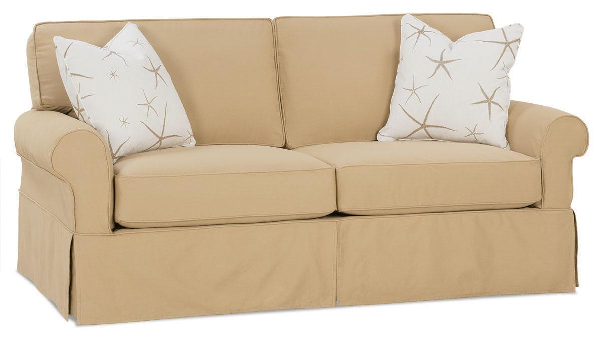 Nantucket 2 seat slipcover queen sleeper sofa rowe furniture rowe - 78 Inch Slipcover Sofa