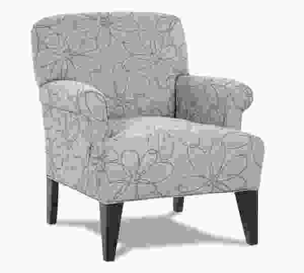 Roma 556 Chair and 230A Ottoman - 350 Fabrics and Colors