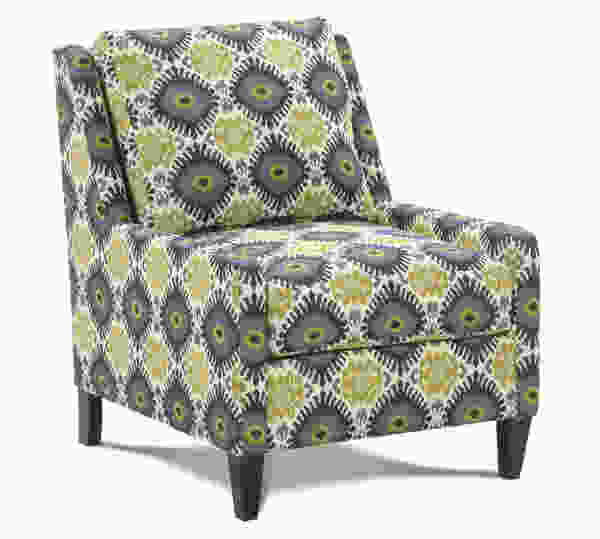 Tasker N300 Accent Chair and Ottoman - 350 Fabrics and Colors