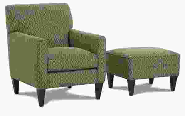Willett K741 Chair and Ottoman - 350 Fabrics and Colors