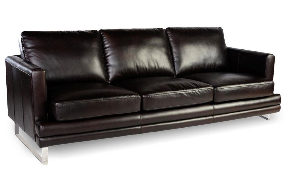 Melbourne 1003 Leather Sofa In Dark Chocolate   | Sofas And ...