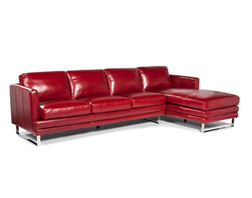 Superb Melbourne 1003 Rsf Chaise Leather Sectional In Sofas And Machost Co Dining Chair Design Ideas Machostcouk