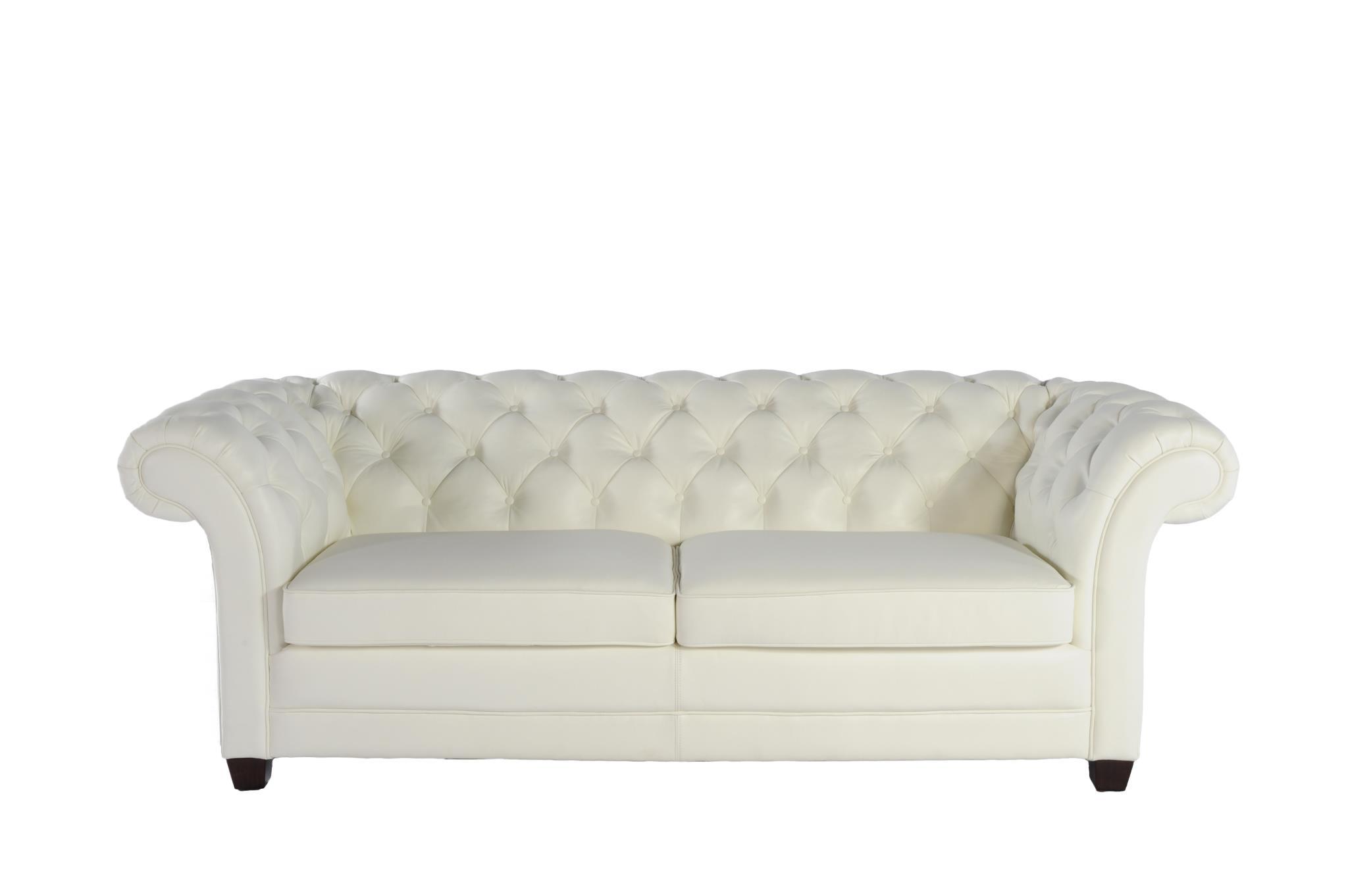 Victoria 1042 Leather Sofa in White IN STOCK