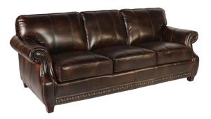 Anna 1317 Leather Sofa In Vintage Buckeye   IN STOCK FAST FREE SHIPPING