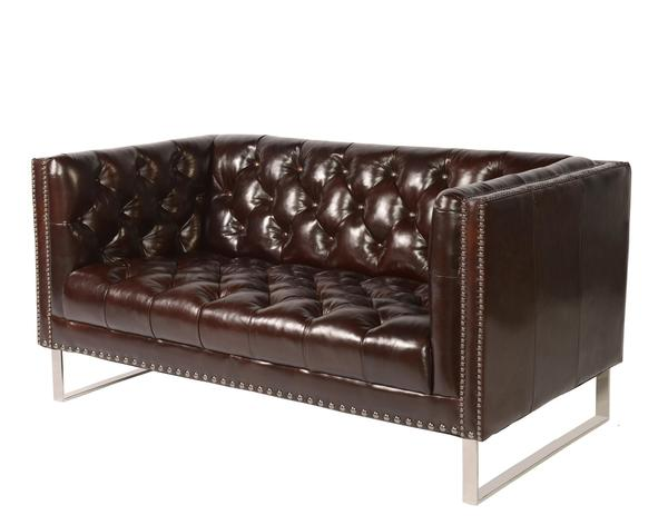 Good Bordeaux 1410 Leather Sofa In Cranberry   IN STOCK FAST FREE DELIVERY