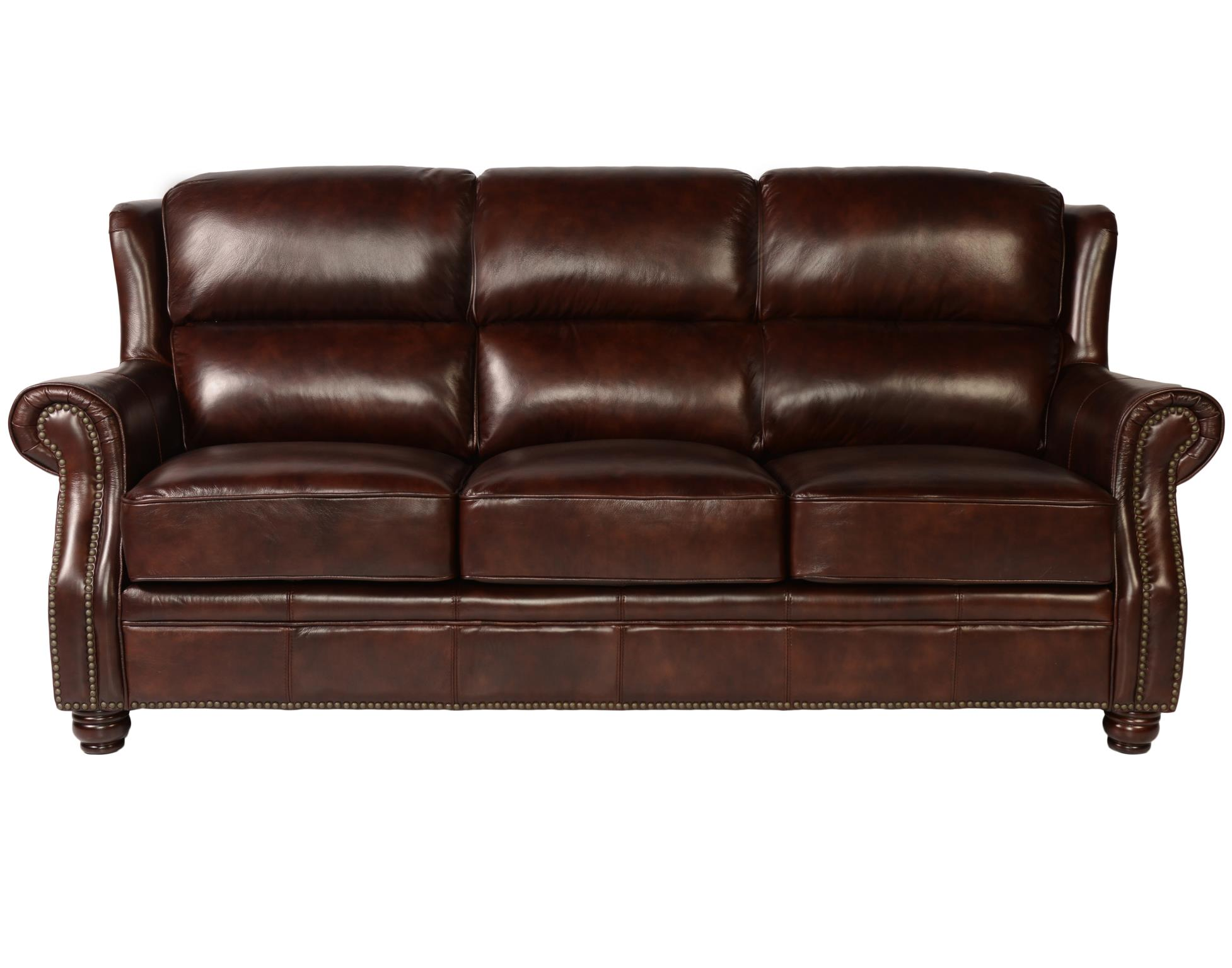 Oakwood 1418 Leather Sofa In Rustic Savauge   IN STOCK FAST FREE DELIVERY.  By Lazzaro