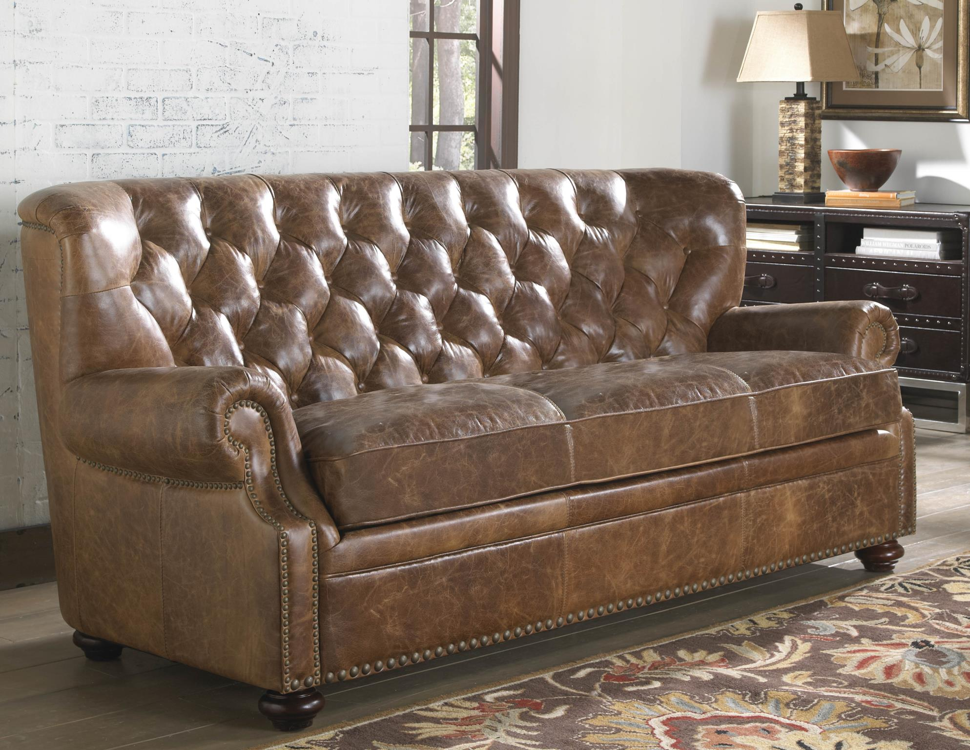 Peachy Louis 1435 Leather Sofa In Cocoa Brompton In Sofas And Ncnpc Chair Design For Home Ncnpcorg