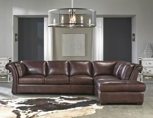 Angelina 1437 Rsf Chaise Leather Sectional