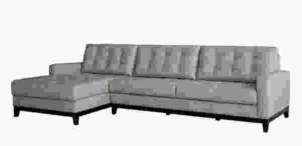 Clayton 1527 LSF Chaise Leather Sectional - IN STOCK FAST FREE DELIVERY