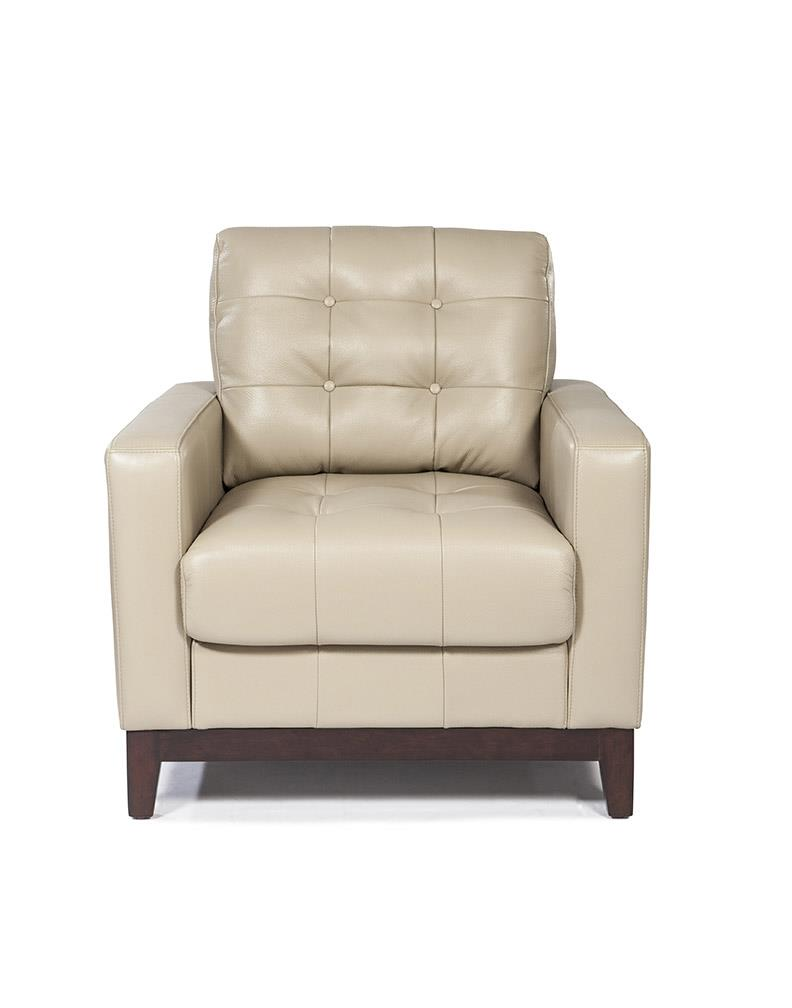 Clayton 1527 Leather Sofa In Taupe In Stock Sofas And Sectionals