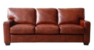 Aberdeen 1528 Top Grain Leather Sofa In Auburn   IN STOCK FAST FREE  DELIVERY. By Lazzaro