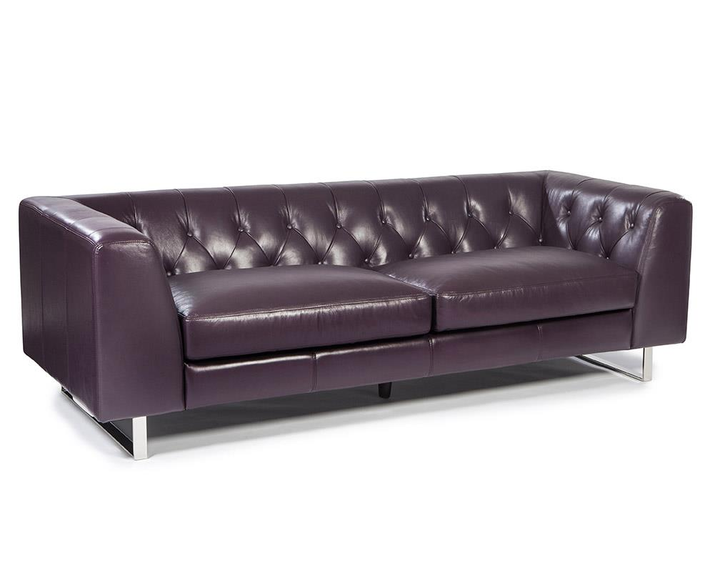 Porto 1602 Leather Sofa In Plum