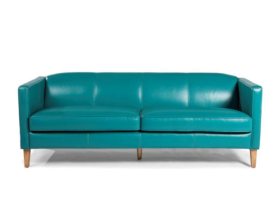Miami 1638 Leather Sofa in Seafoam - IN STOCK | Sofas and Sectionals