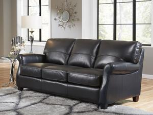 Carlyle 2022 Leather Sofa In Black IN STOCK FAST FREE SHIPPING