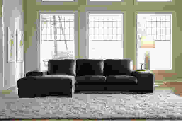 Sussen 3028 LSF Chaise Sectional In Black - IN STOCK FAST FREE SHIPPING