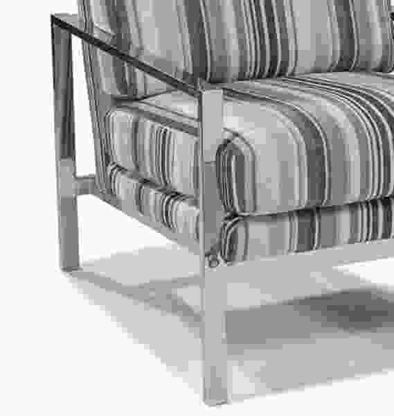Tranquility Chair in Grey Stripe  IN STOCK FAST FREE SHIPPING