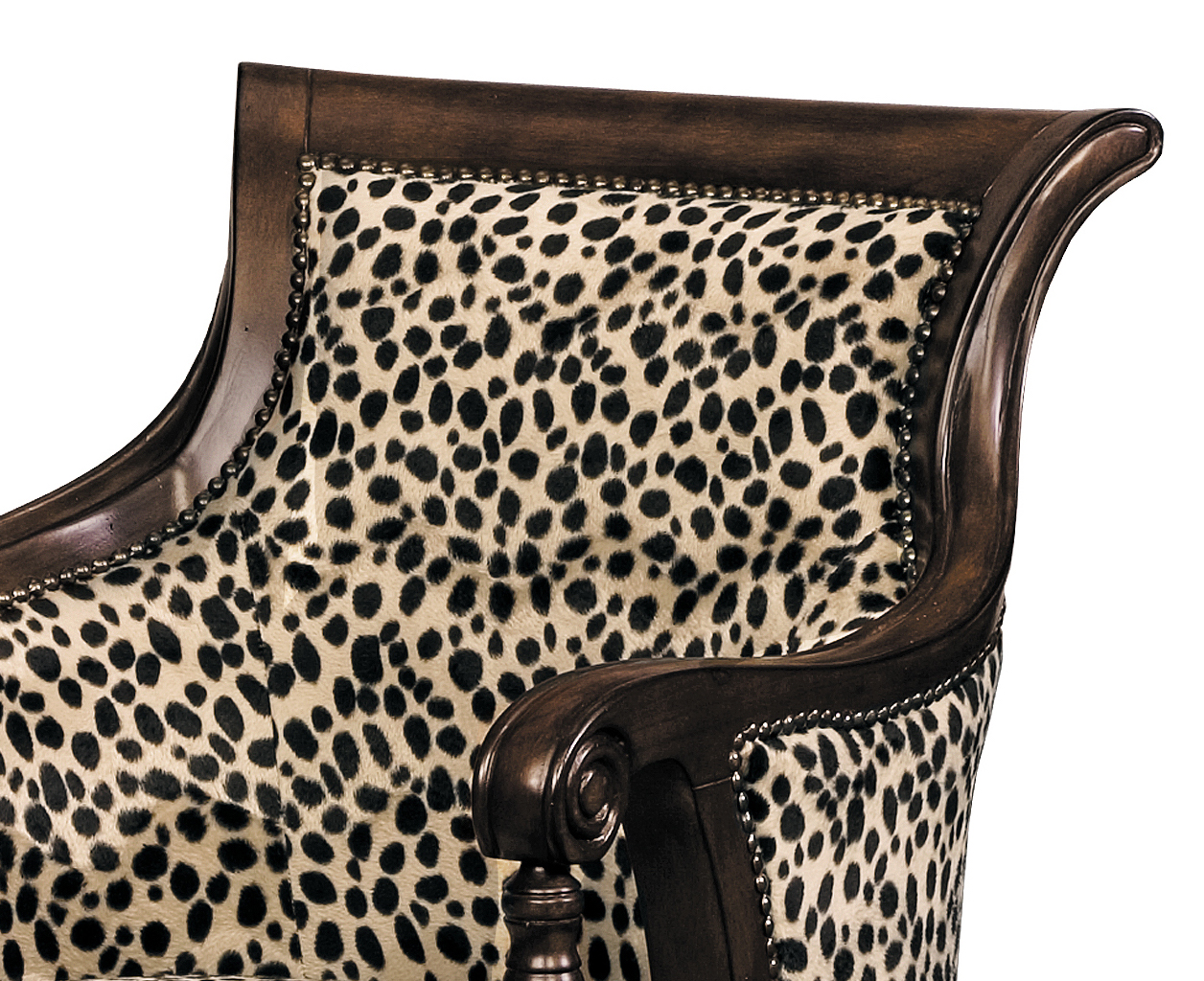 Outstanding Lena Animal Print Accent Chair 11492 Sofas And Sectionals Machost Co Dining Chair Design Ideas Machostcouk
