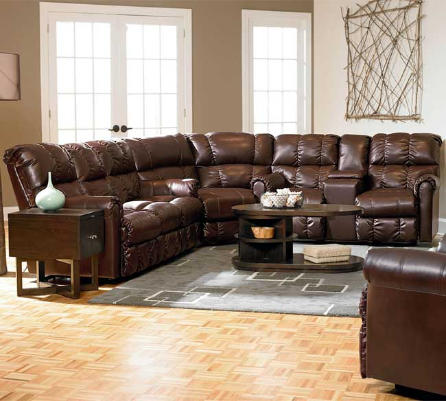 Griffin Reclining Sectional 327. By Lane