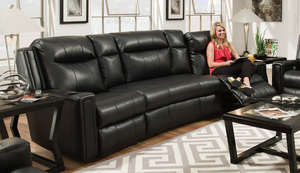 curve 858p reclining sectional by southern motion
