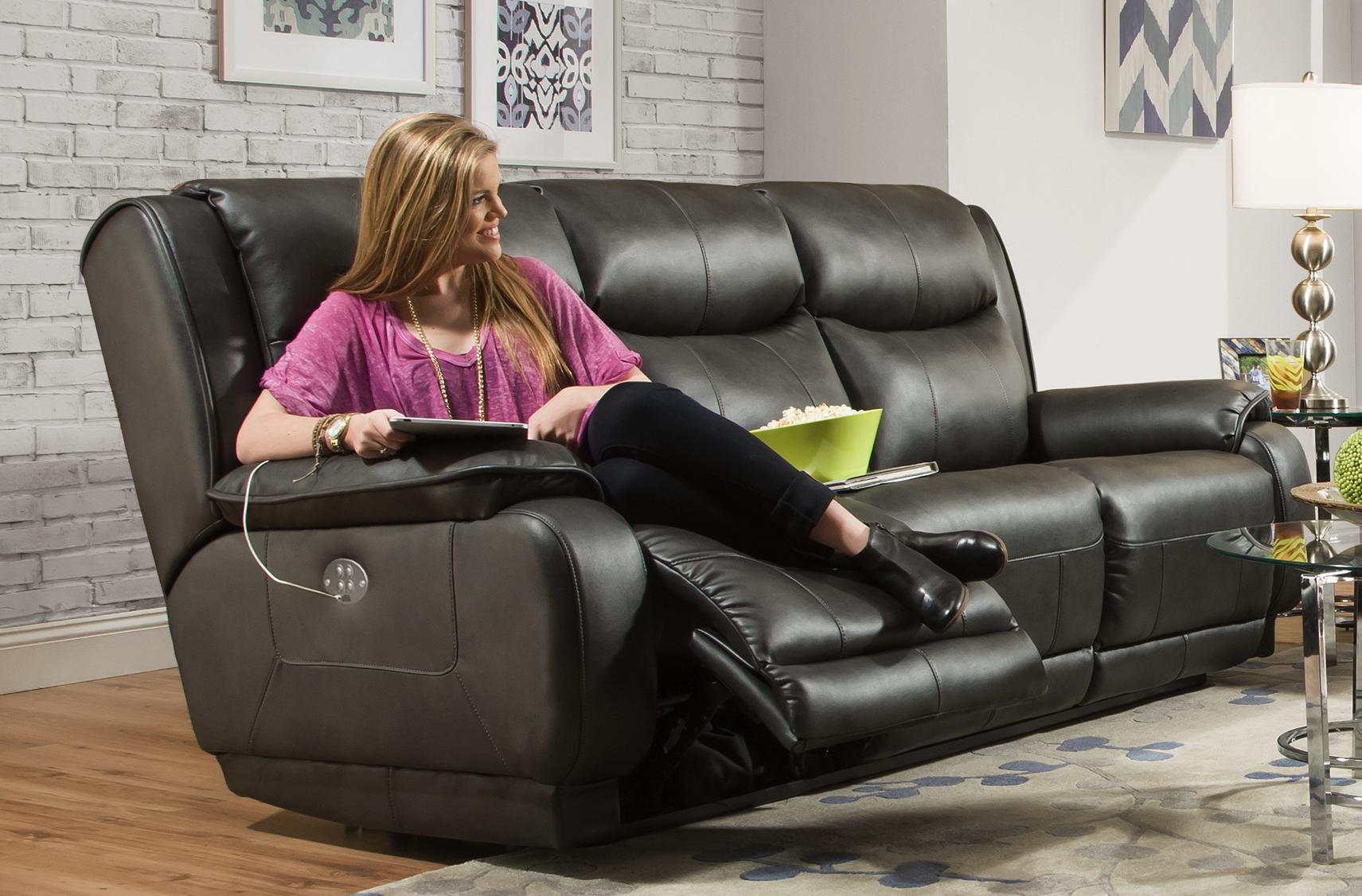 Velocity 875 POWER HEADREST Reclining Sofa
