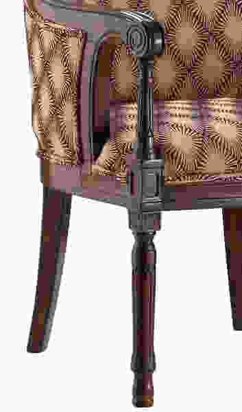 Accent Chair w/Hypnotize Latte Fabric