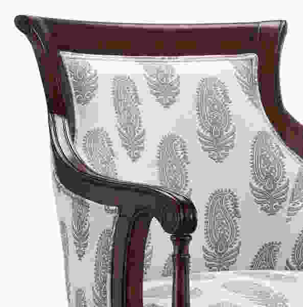 Accent Chair w/New Delhi Royal Fabric