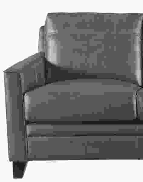 Fletcher 6287B Leather Sofa in Charcoal - IN STOCK FAST FREE DELIVERY