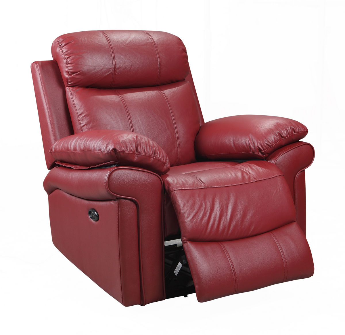 Joplin Power Leather Reclining Sofa in Red | Sofas and Sectionals