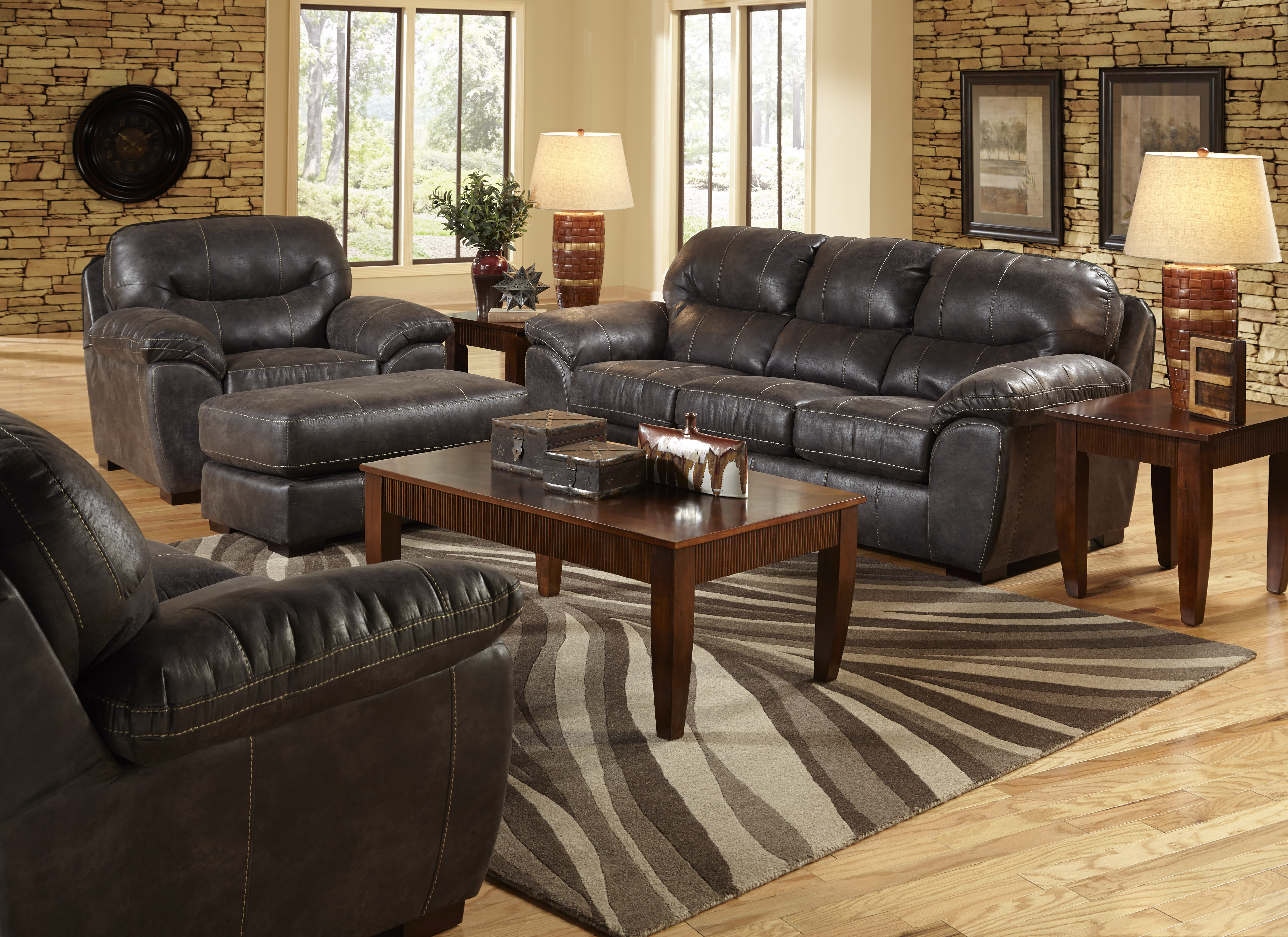 Grant 4453 Bonded Leather Sofa Collection   Sofas and Sectionals