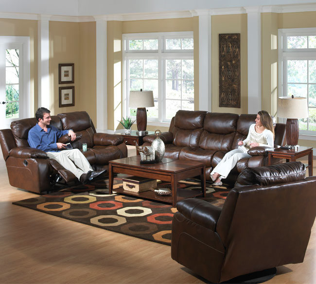 Dallas 495 Top Grain Leather Reclining Sofa | Sofas and Sectionals