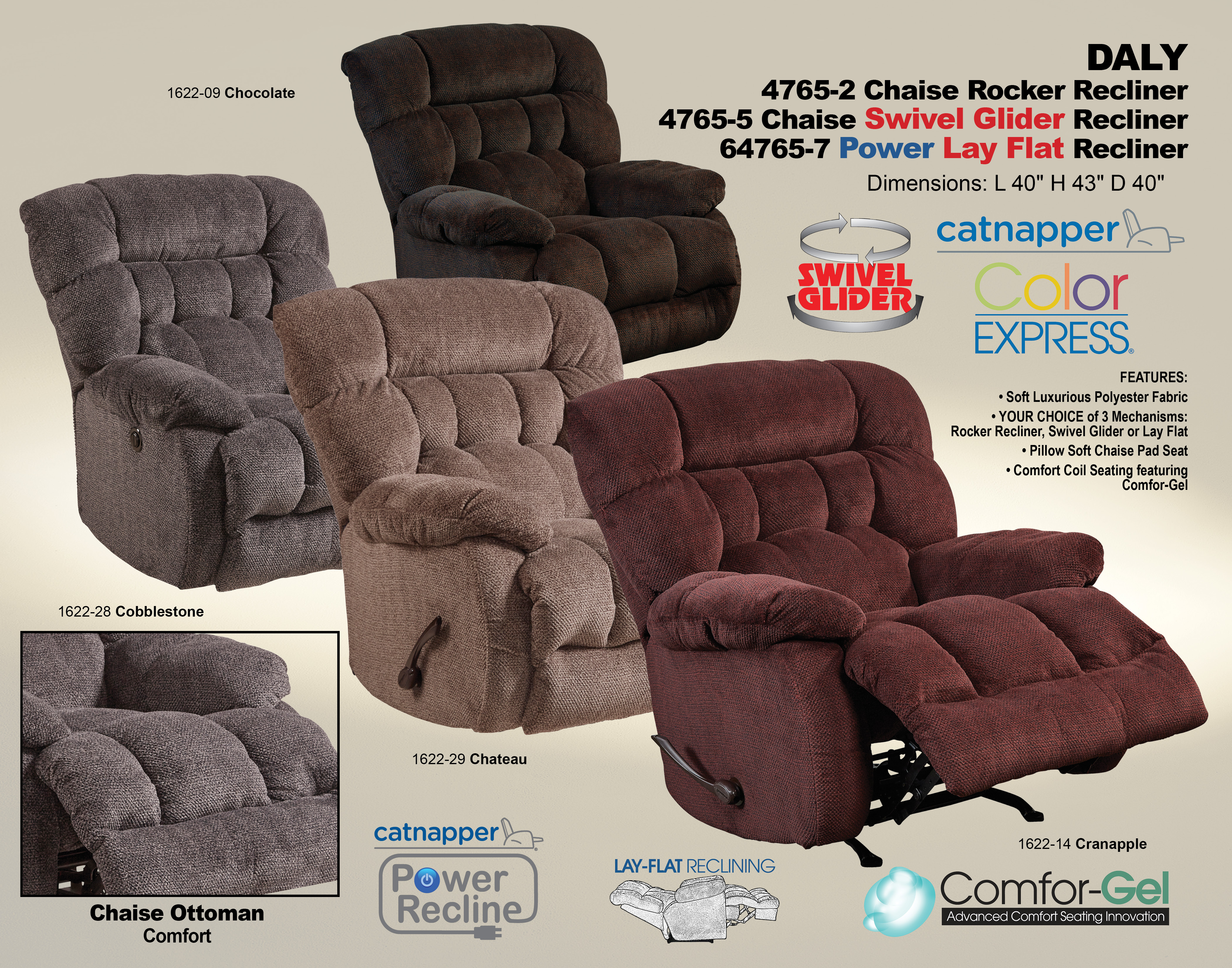 Miraculous Daly 4765 Recliner Sofas And Sectionals Creativecarmelina Interior Chair Design Creativecarmelinacom