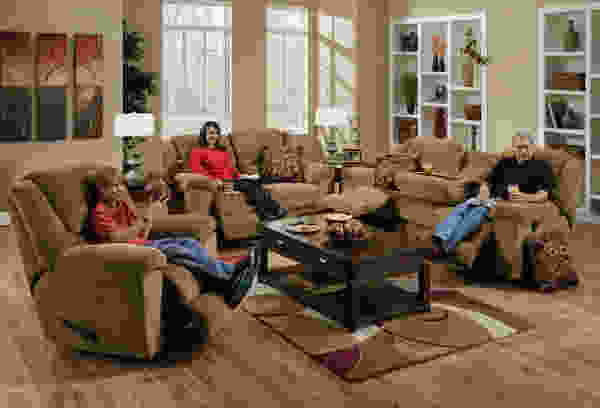 Transformer 194 Sofa w/3 Recliners/1 Drop-Down Table