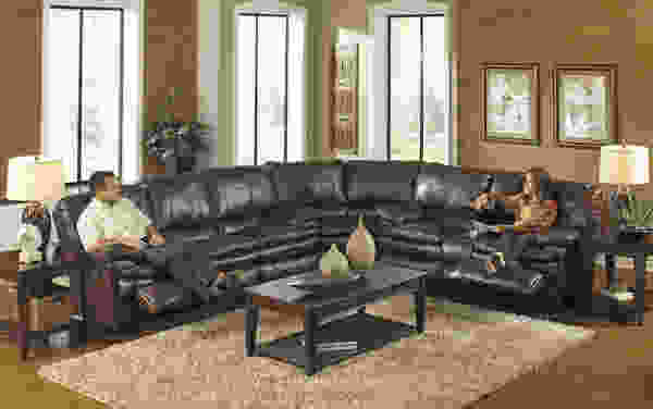Perez 414 Bonded Leather Touch Reclining Sectional