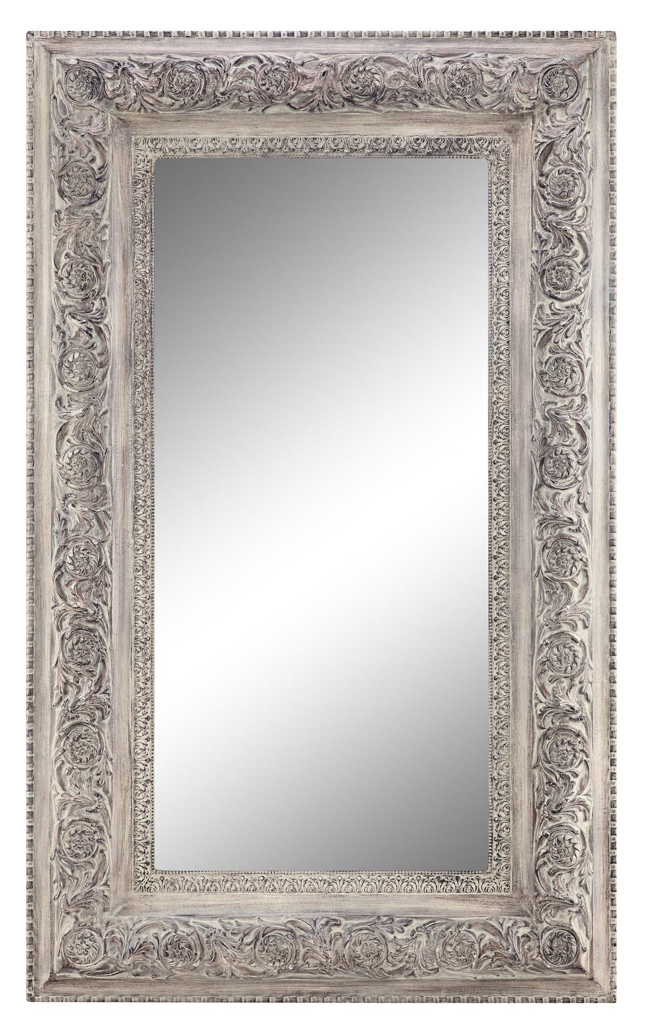 Samira Antique White Floor Mirror 13273 Sofas And Sectionals