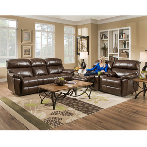 Butler 471 LEATHER Reclining Sofa Collection In Walnut. By Franklin