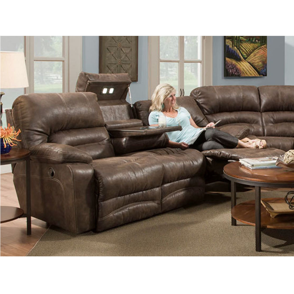 Layout A: Franklinu0027s 500 Legacy Reclining Sectional With Hidden Tables And  Lights