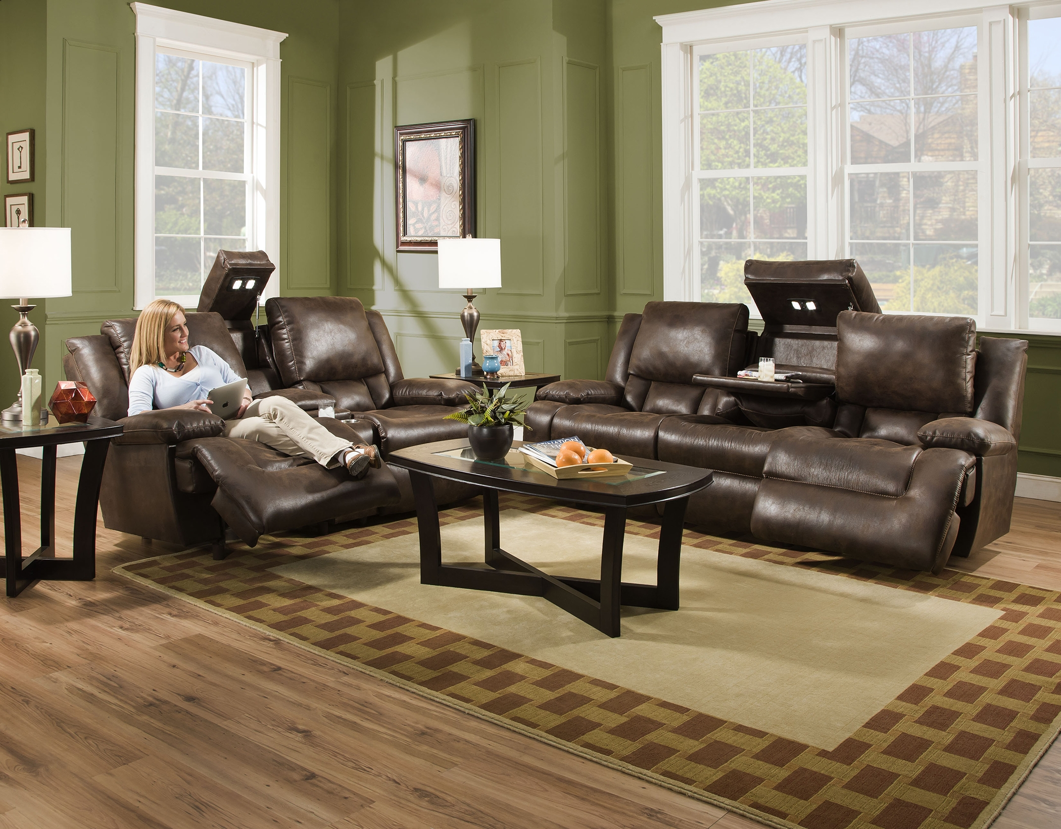 Admirable Excalibur 743 Reclining Sofa W Power Headrest Sofas And Caraccident5 Cool Chair Designs And Ideas Caraccident5Info