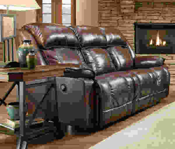Marshall 717 LEATHER Reclining Sofa in Chocolate