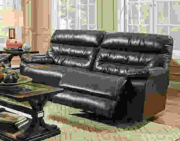 Domino 709 Reclining Sofa Collection in Fabric Chocolate