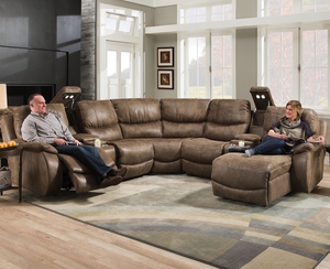 Admiral 705 Reclining Sectional in Spectrum Birch : power sectional sofa - Sectionals, Sofas & Couches