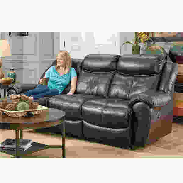 Lisbon 702 LEATHER Reclining Sofa Collection in Coffee