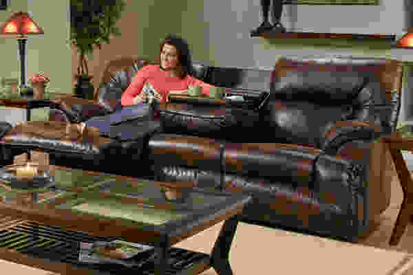 Tristan 646 Reclining Sofa Collection in Tobacco