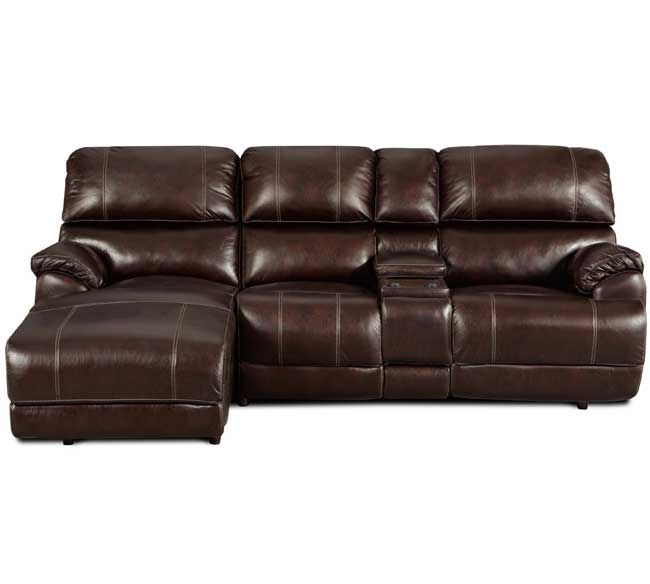 Presley 572 Reclining Sectional in Chocolate | Sofas and Sectionals